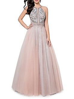 707745b2b9b QUICK VIEW. Glamour by Terani Couture. Embellished Tulle Evening Gown