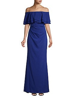 f350111d907a31 QUICK VIEW. Vince Camuto. Off-The-Shoulder Ruffled Gown