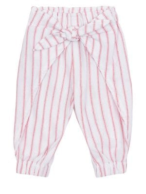 Image of Baby Girl's Striped Wrap Pants