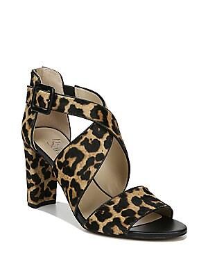 64be0b54f0de Franco Sarto - Hazelle2 Strappy Leopard-Print Calf Hair