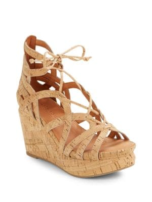 Joy Cork Platform Wedge Sandals by Gentle Souls