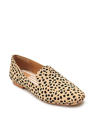 66b6471c398c Steve Madden - Feather Leopard Print Calf Hair Loafers ...