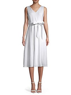 Belted Midi Dress WHITE. QUICK VIEW. Product image 7aea856d23a09