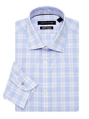 db919155d Tommy Hilfiger - Slim-Fit Stretch Plaid Dress Shirt
