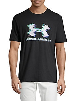 ee54dd3a QUICK VIEW. Under Armour. Logo Glitch Cotton Blend Tee