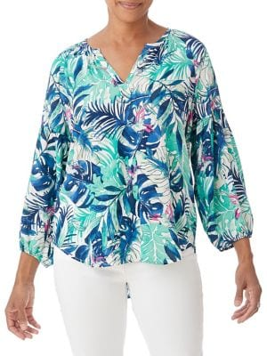 Image of Tropical Dream Printed Blouse