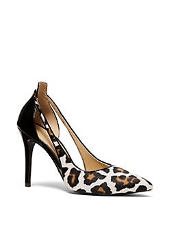 dcd7082eefa Product image. QUICK VIEW. MICHAEL Michael Kors. Cersie Leopard-Print  Leather and Calf Hair Pumps