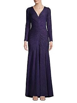 9bcdfe1adddc1 QUICK VIEW. Tadashi Shoji. Ruched Metallic Gown
