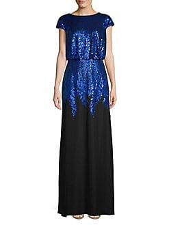 85d90512b80 QUICK VIEW. Tadashi Shoji. Sequined Column Gown