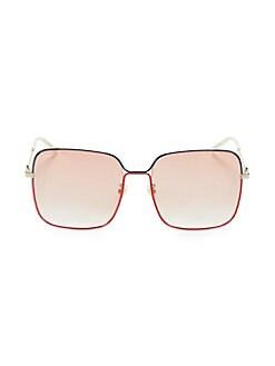 980441025e0 QUICK VIEW. Gucci. 53MM Wire Square Sunglasses