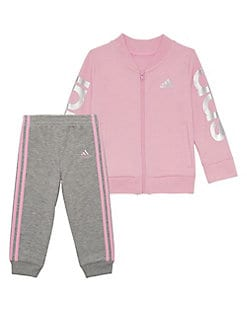 749b3c16ff8672 Product image. QUICK VIEW. Adidas. Baby Girl's Adi Cotton Jacket & Pants Set