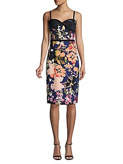 f085868e1e Product image. QUICK VIEW. Black Halo. Daria Floral Printed Sleeveless Dress