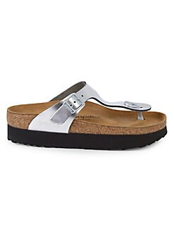 5a84844fd1cc Product image. QUICK VIEW. Birkenstock. Gizeh Leather Platform Thong Sandals