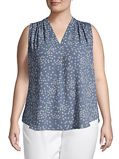 5727c368454 Plus Sleeveless Floral Blouse PEARL IVORY. QUICK VIEW. Product image. QUICK  VIEW. Vince Camuto