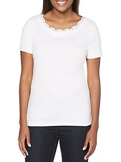 f756b142c5ece QUICK VIEW. Rafaella. Petite Short-Sleeve Cotton Top