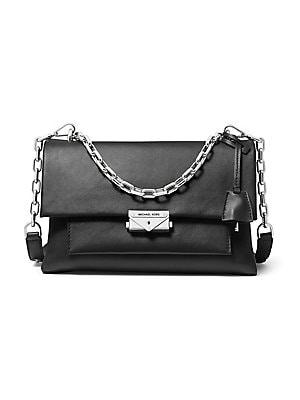 414af73afd64 MICHAEL Michael Kors - Large Jade Leather Gusset Shoulder Bag ...