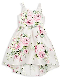 f1b8a815282 QUICK VIEW. Zunie. Girl s Floral Hi-Lo Dress