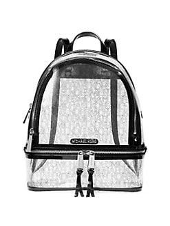 56648eb15555 Product image. QUICK VIEW. MICHAEL Michael Kors. Medium Rhea Clear Zip  Backpack. $228.00. brands we love