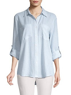 QUICK VIEW. MICHAEL Michael Kors. Striped Button Front Blouse 57c071a5d