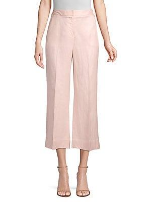 f28d24b3a Donna Karan - Linen-Blend Cropped Pants - lordandtaylor.com
