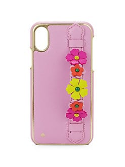 a24af4d135ff8 QUICK VIEW. Kate Spade New York. Floral Saffino Leather iPhone XS Phone Case