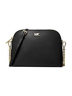 9f0f014a11b0da QUICK VIEW. MICHAEL Michael Kors. Large Leather Zip Dome Crossbody Bag