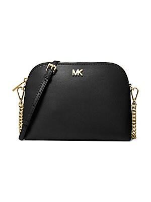 2afc0caea826 MICHAEL Michael Kors - Large Leather Zip Dome Crossbody Bag -  lordandtaylor.com
