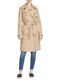 f2aedea9f2 Twill Cotton Trench Coat KHAKI. QUICK VIEW. Product image