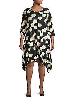 6bfd9b28d8b QUICK VIEW. Context. Plus Falling Tulip Shift Dress