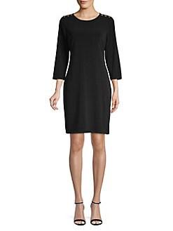 45963c31 QUICK VIEW. Calvin Klein. Roundneck Sheath Dress