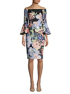 0f025e674bd QUICK VIEW. Gabby Skye. Off-The-Shoulder Floral Sheath Dress