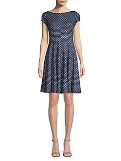 5fc48e63958 QUICK VIEW. Gabby Skye. Polka Dot A-Line Dress