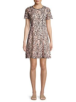 4307df61bc QUICK VIEW. Kensie Dresses. Two-Tone Floral Lace ...