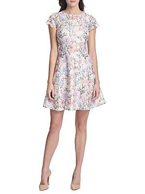 684ef66d2683 Kensie Dresses - Floral Short-Sleeve A-Line Dress