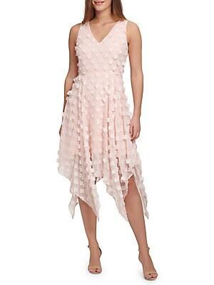 Two Tone Floral Lace A Line Dress by Kensie Dresses