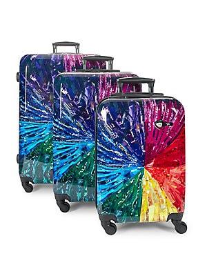 Image result for Mia Toro Italy Jennifer L. Schmidt Hardside Spinner Luggage 3pc Set,Color Wheel