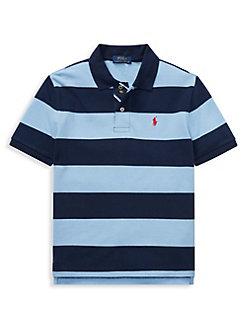 924657eb3 Boy s Cotton Polo Shirt BLUE. QUICK VIEW. Product image. QUICK VIEW. Ralph  Lauren Childrenswear