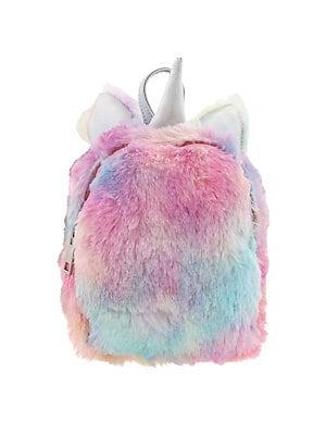 4d2ee89e1d Capelli New York - Girl s Mini Unicorn Faux Fur Backpack ...