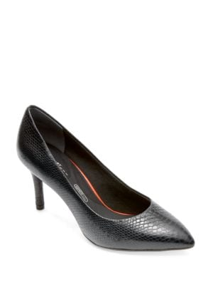 Total Motion Leather Point-Toe Pumps by Rockport