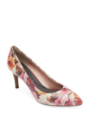 Total Motion Floral Leather Pumps by Rockport