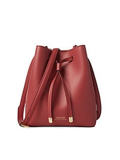 e82c2af9ef QUICK VIEW. Lauren Ralph Lauren. Classic Leather Drawstring Bag