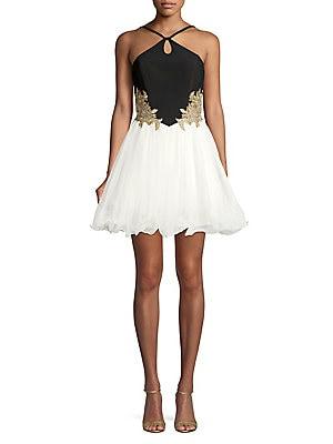 b584b7df6d7 Blondie Nites - Crisscross Fit- -Flare Dress - lordandtaylor.com