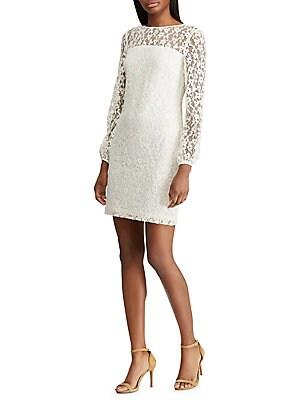 52548d9bea622 Lauren Ralph Lauren - Floral Lace Puff Sleeve