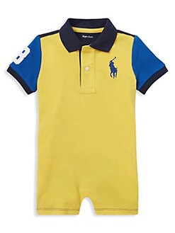 a4515bc1d Baby Boy s Colorblock Cotton Shortalls YELLOW. QUICK VIEW. Product image.  QUICK VIEW. Ralph Lauren Childrenswear