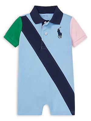 29ff4ea3b6aed Ralph Lauren Childrenswear - Baby Boy's Colorblock Cotton Mesh Polo  Shortalls