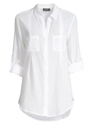Image of Gauze Roll-Tab Shirt