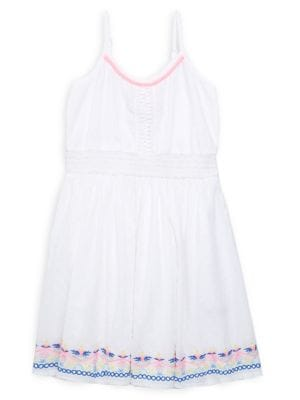 Image of Girls Embroidered A-Line Dress