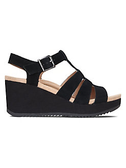 b472efa76e QUICK VIEW. Vionic. Hoola Tawny Strappy Suede Wedge Sandals