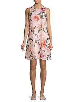 1d7d74aadb89a2 Product image. QUICK VIEW. Calvin Klein. Floral Sleeveless Shift Dress
