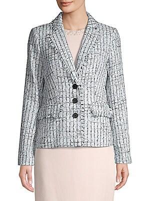 d381d16a77 Karl Lagerfeld Paris - Fringed Check Blazer